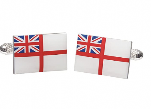 Royal Navy Ensign Cufflinks (with Leatherette carry case)